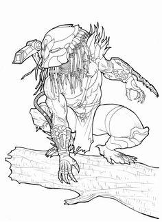 Drawn predator king Ronniesolano Owl ideas Junglehunter Aliens