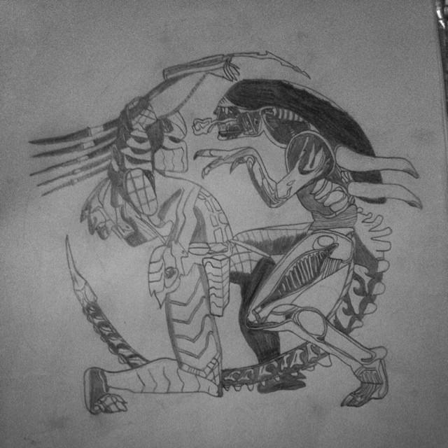 Drawn predator king #art Predator alien Instagram vs