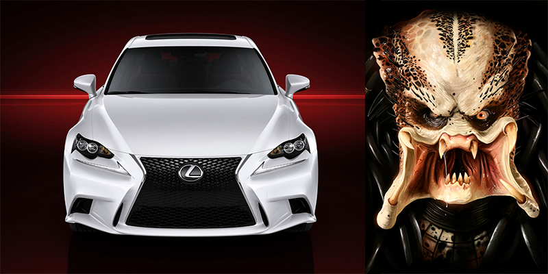 Drawn predator lexus Of with people down the