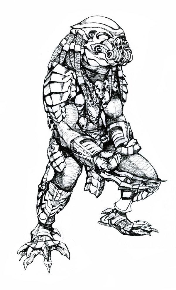 Drawn predator linework Work by Beast BowenJ Celtic