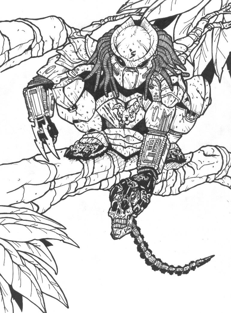 Drawn predator linework DeviantArt on by Predator in