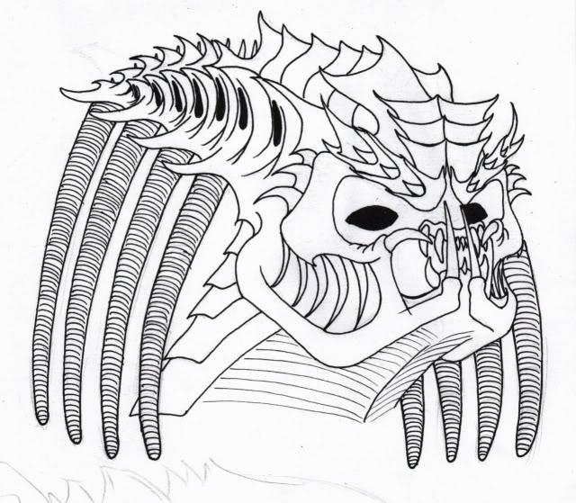 Drawn predator linework Other Sketches Jason's Page Predators
