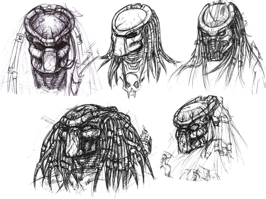 Drawn predator masked Celtic ii Predator Predator Drawings