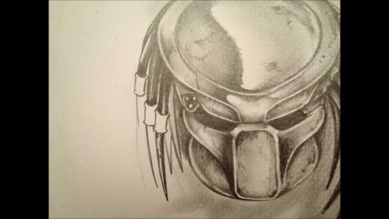 Drawn predator masked Version Predator YouTube Carl's masked