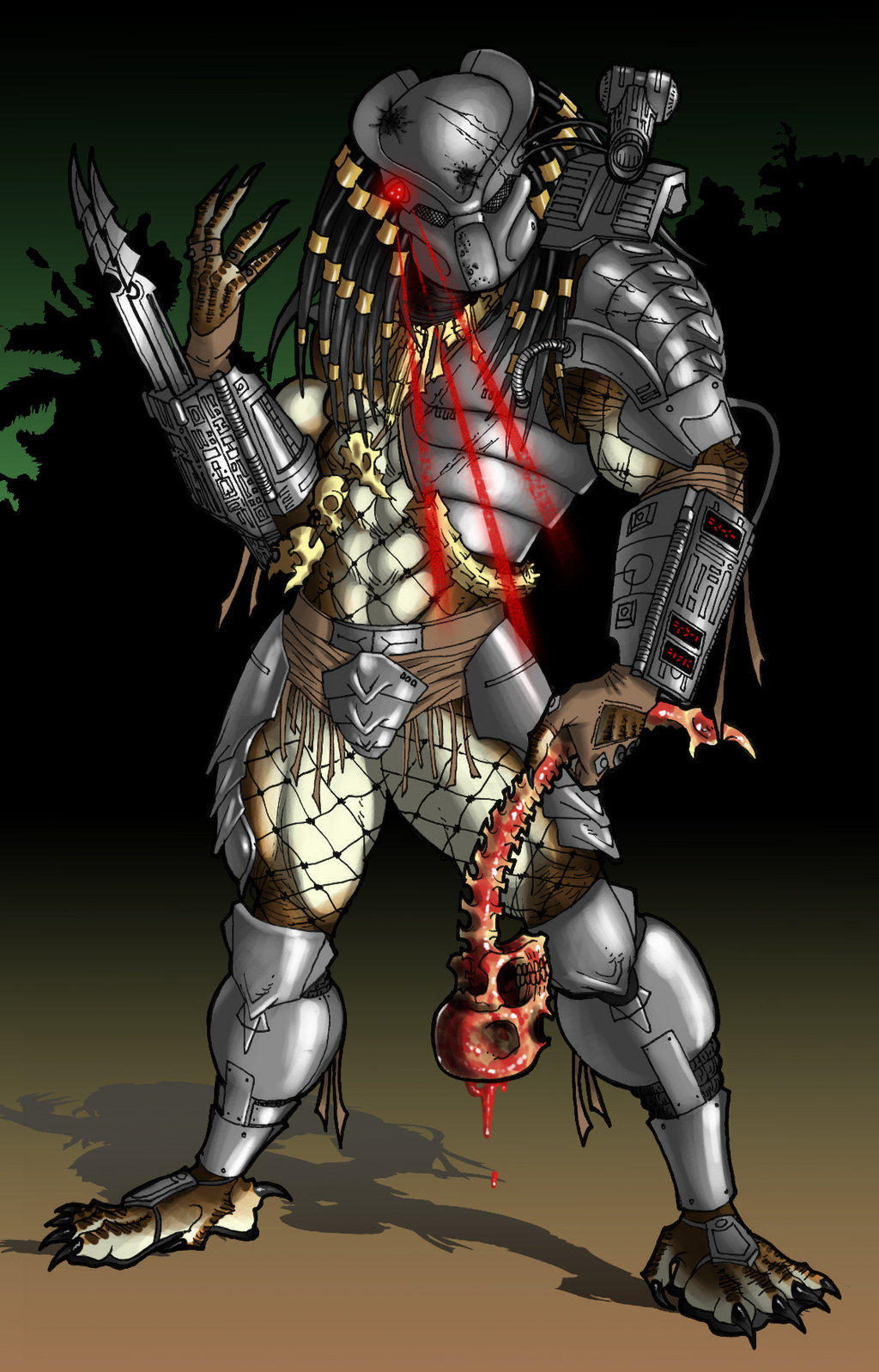 Drawn predator neca By Drawing Ronniesolano Painted Painted
