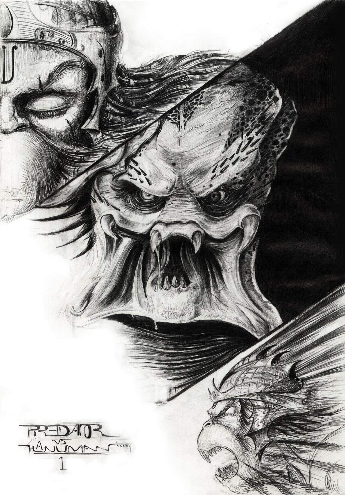 Drawn predator pencil Vs Hanuman1 Predator Predator Predator