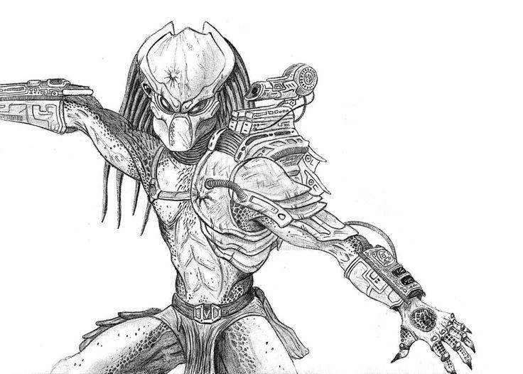 Drawn predator predalien Mask Draw by images ~darkhorse2489