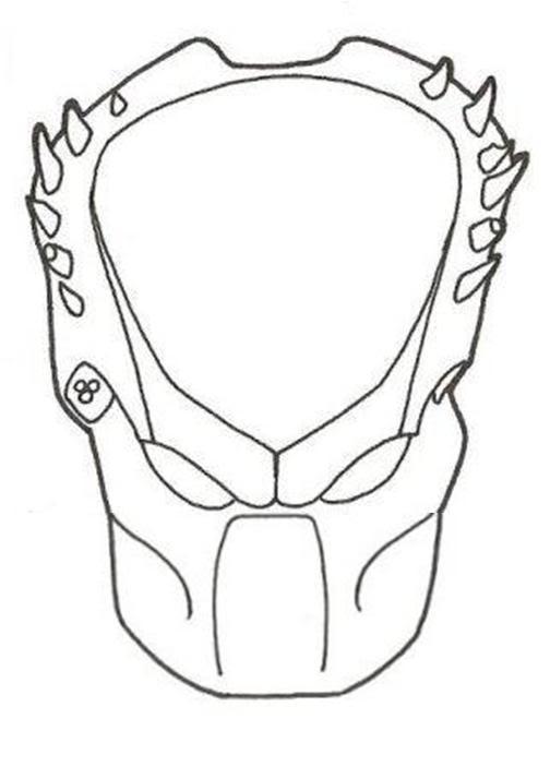 Drawn predator predator helmet P1 I and into cool