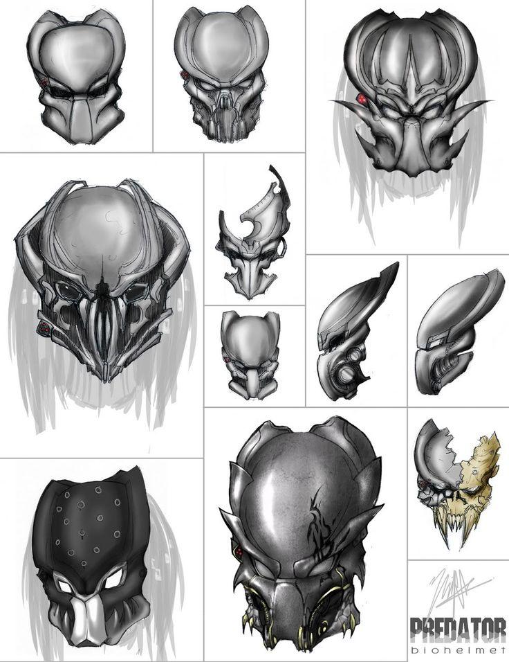Drawn predator predator helmet 347 Find Predator Pinterest more