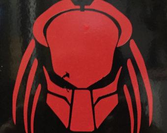 Drawn predator predator helmet Predator Predator vinyl Etsy helmet