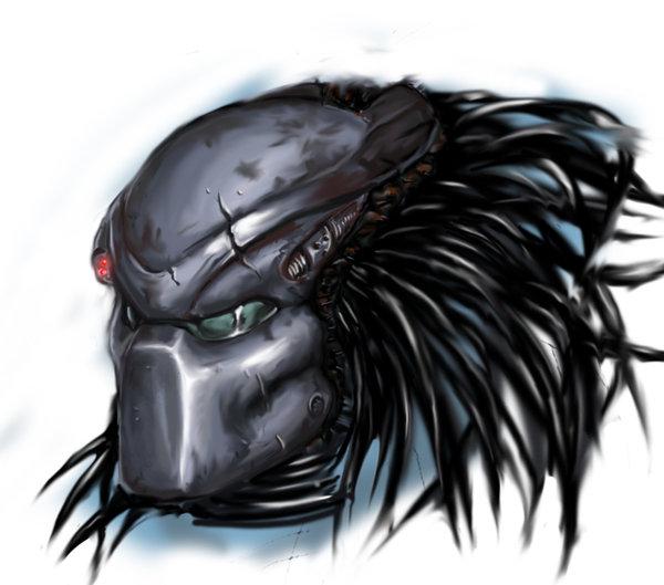 Drawn predator predator helmet Predator Predator Helmet: Ice Lair