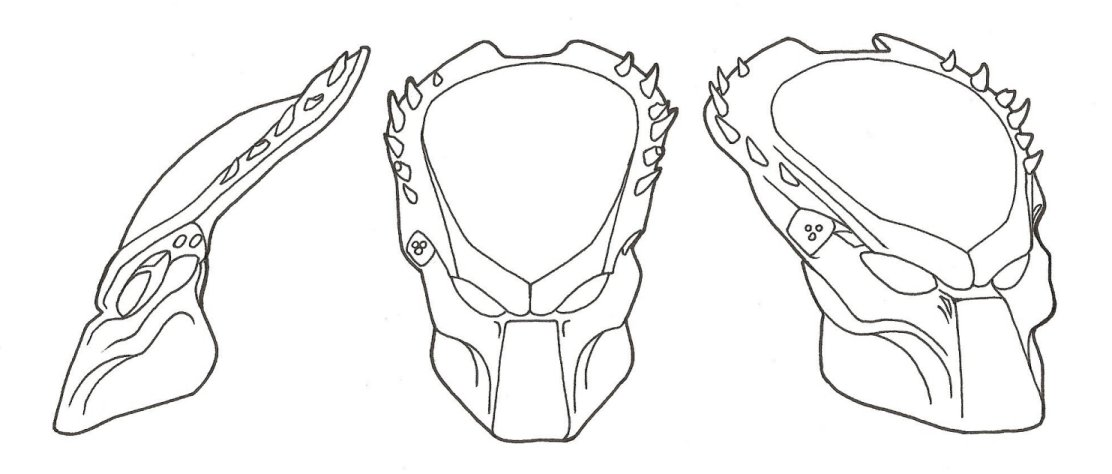 Drawn predator predator helmet Predator Predator Template by R