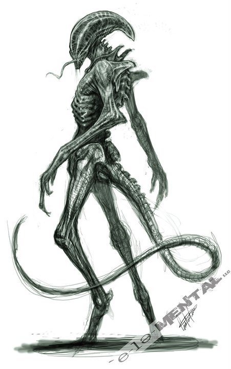 Drawn predator prometheus Johnson Alien  FX Steven