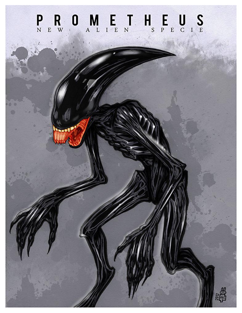 Drawn predator prometheus FanArt  Prometheus