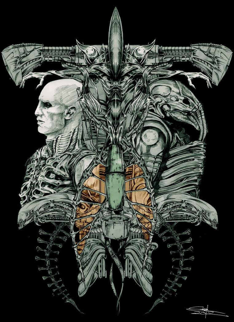Drawn predator prometheus The evolution  on by