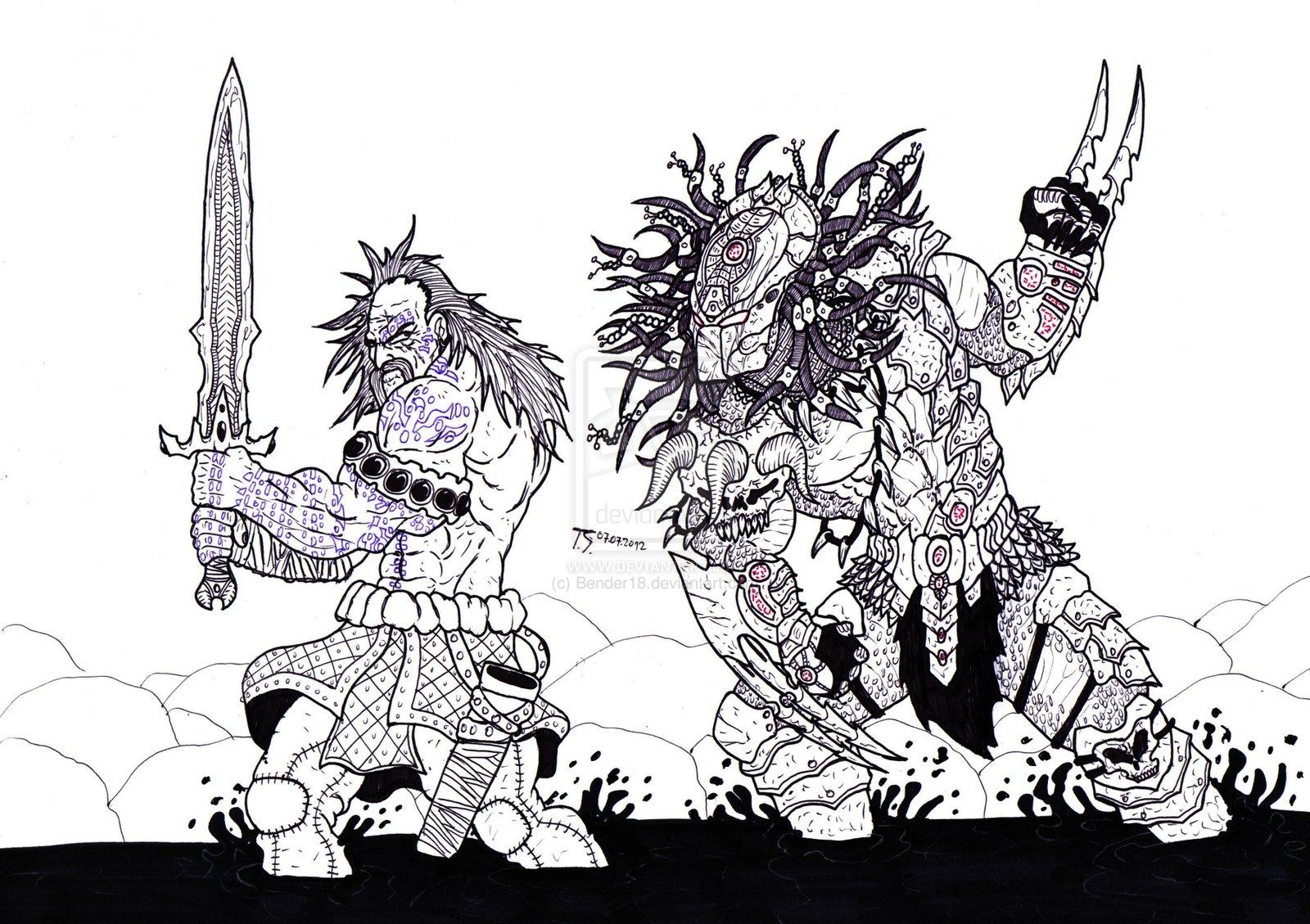 Drawn predator prometheus Artworks  Bender1988