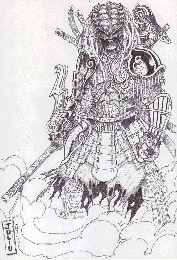 Drawn predator samurai <font><font>PREDATOR 765 on Pinterest predator
