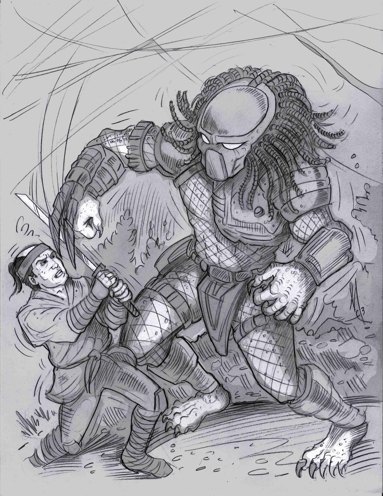 Drawn predator samurai Predator Samurai Marcus Collar vs