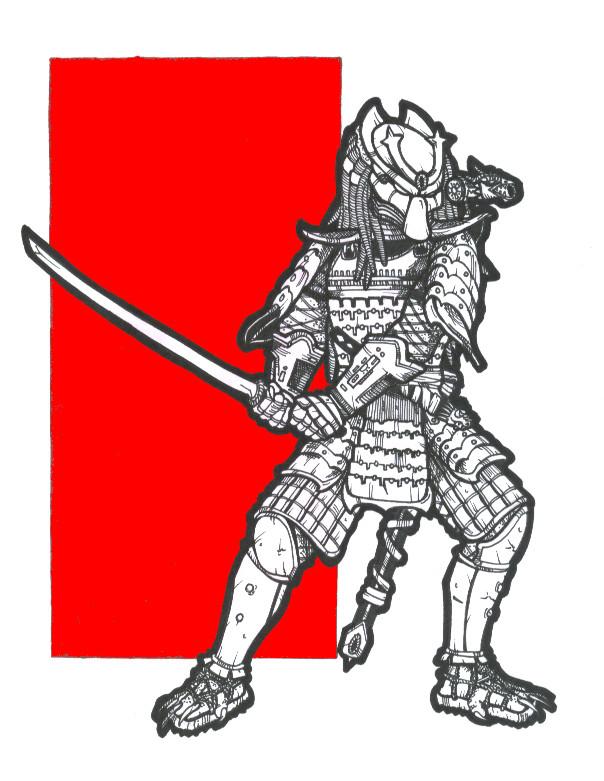 Drawn predator samurai Samurai DeviantArt on by by