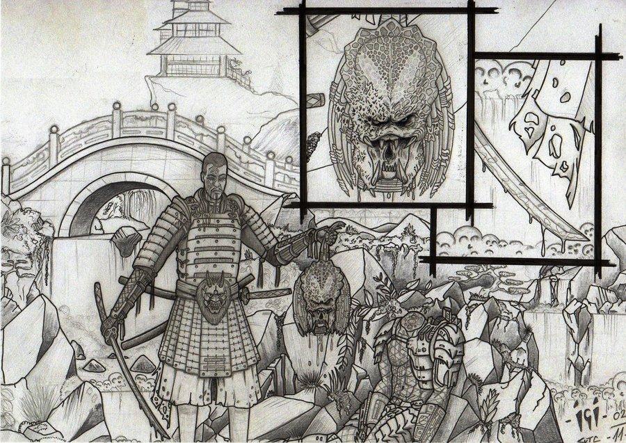 Drawn predator samurai Samurai campfens by predator v