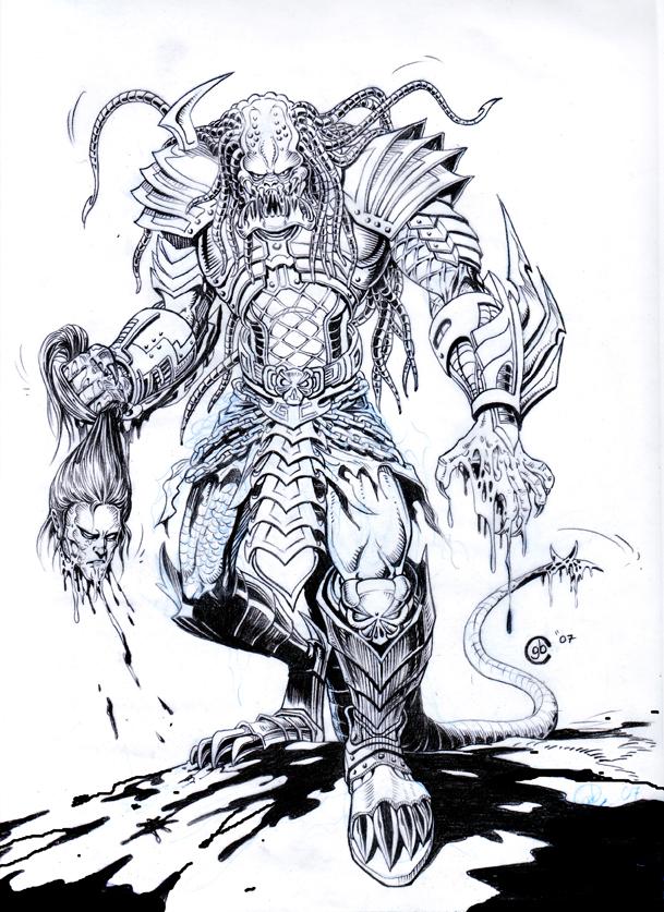 Drawn predator samurai Hot 83  Predator Collectible