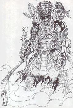 Drawn predator samurai Find del  Samurai Takayuki
