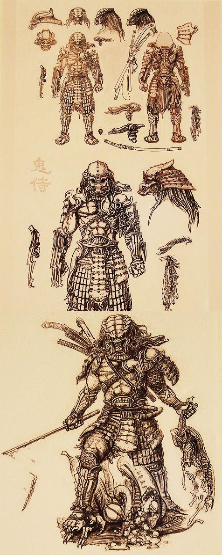 Drawn predator samurai Bocetos images Alien best on