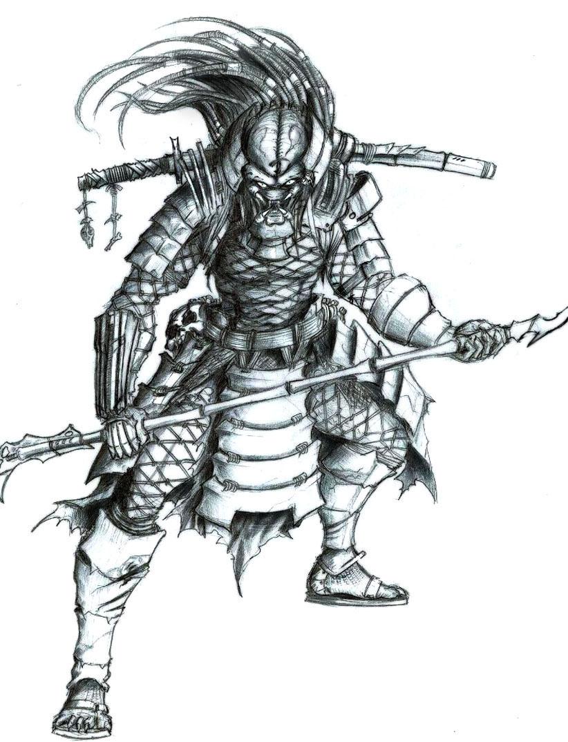 Drawn predator samurai Predator samurai Tatong DeviantArt by