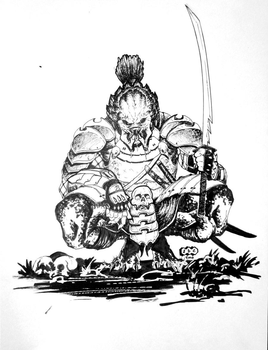 Drawn predator samurai Samurai deviantart Predator Cool Samurai
