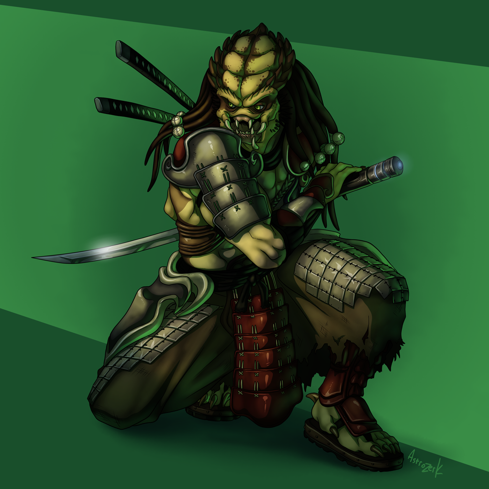 Drawn predator samurai AstroZerk by AVP AstroZerk AstroZerk