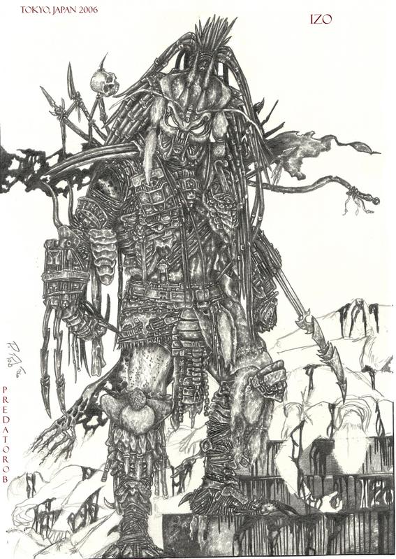 Drawn predator samurai Izo on Predator Samurai DeviantArt