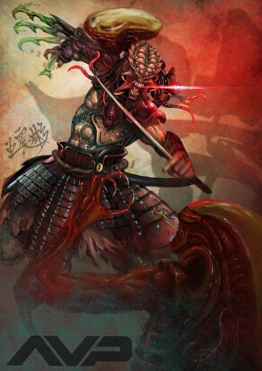 Drawn predator samurai AVP by AVP  on