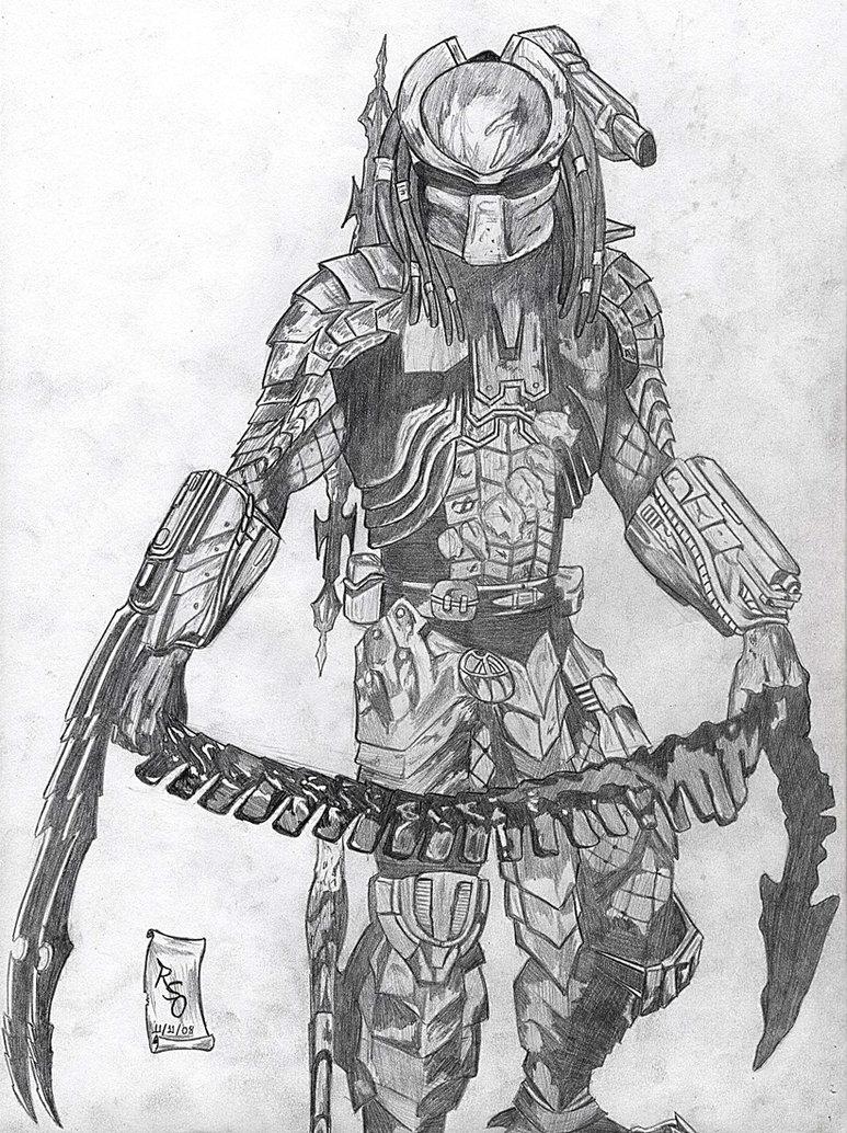 Drawn predator scar By Predator Scar Predator rraphall04