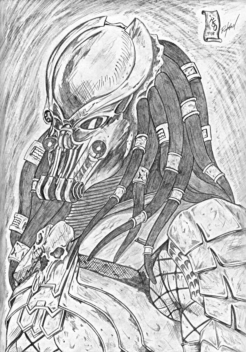 Drawn predator scar Drawings predator Predator Scar Predator
