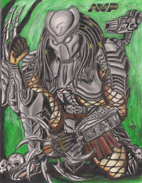 Drawn predator scar Predator by scar predator angell35art