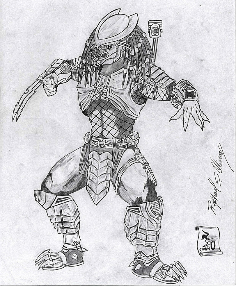 Drawn predator scar Predator by Celtic Predator rraphall04