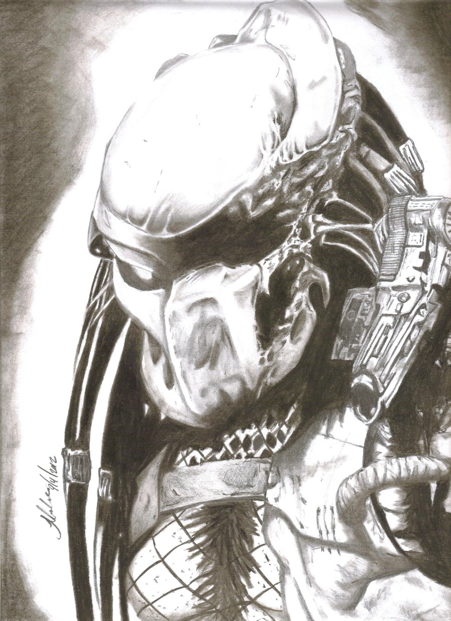 Drawn predator scar By JuliusRobles scar predator scar