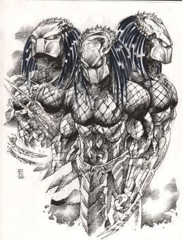Drawn predator sci fi Just drawing love awesome 757