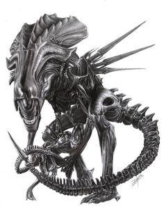 Drawn predator sci fi Shows: Art Art #alienqueen #alien