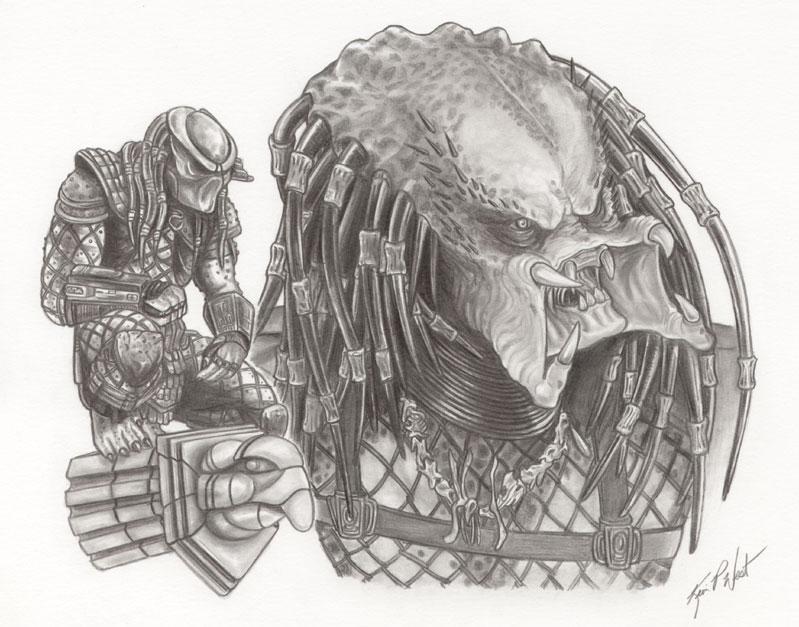 Drawn predator sci fi Predator Webbing  Digital Forums