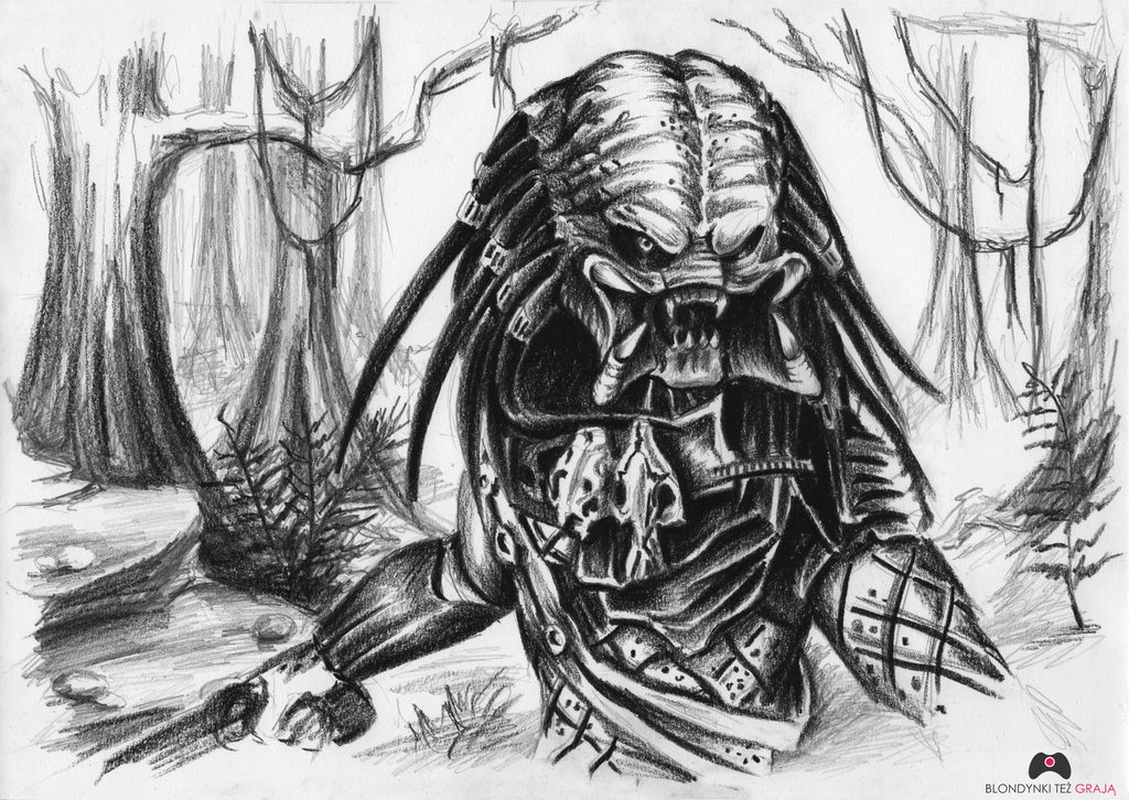 Drawn predator sci fi Predators 147 (Yautja) this (Yautja)