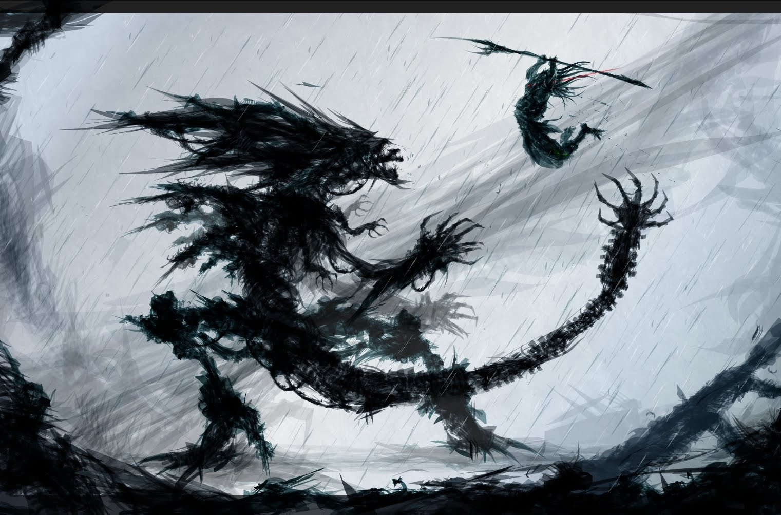 Drawn predator shadow dragon Predator Aliens Spear Kills