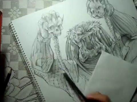 Drawn predator shadow dragon Speed Drawing YouTube Speed Drawing