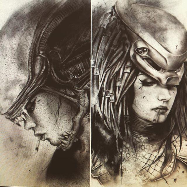 Drawn predator sith On or Alien to Predator
