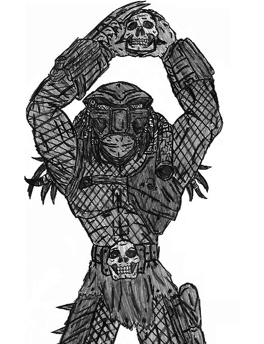 Drawn predator skull The Negabyte by DeviantArt on