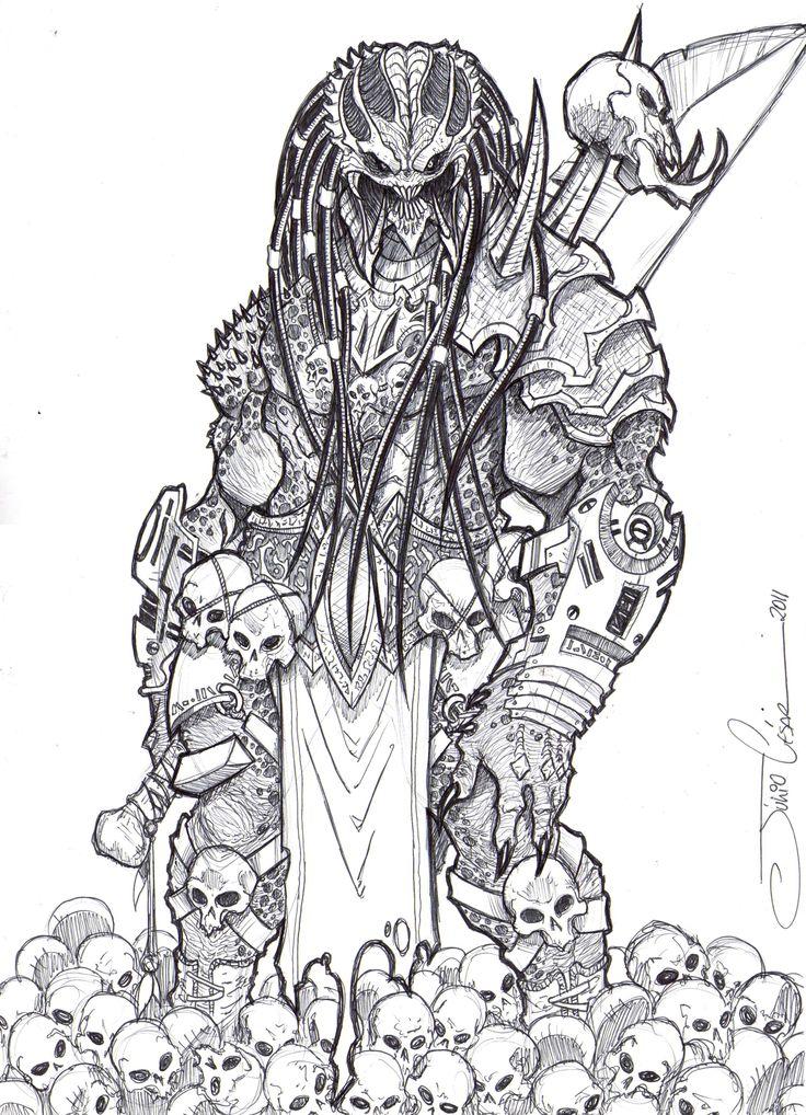 Drawn predator skull Deviantart vandalocomics on best Pinterest