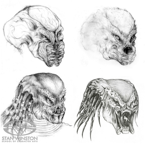 Drawn predator stan winston Above: The designs by most
