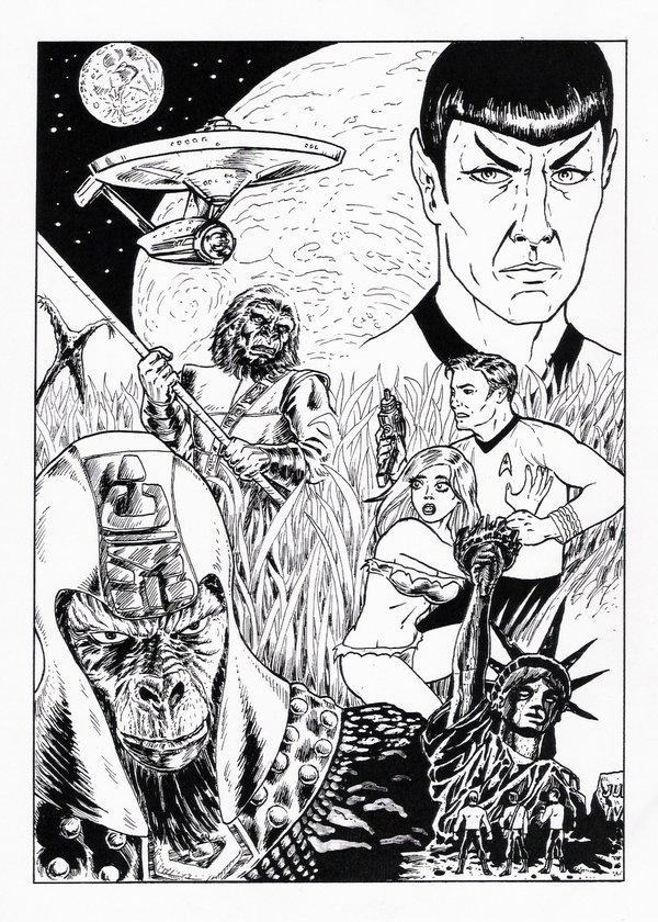 Drawn predator star trek vs Trek/Planet Star Christmas art TrekInk: