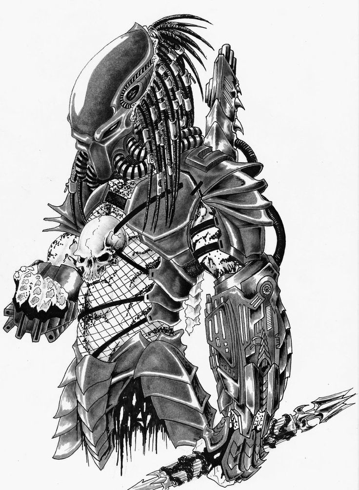 Drawn predator star trek vs Vs Alien on on Predator