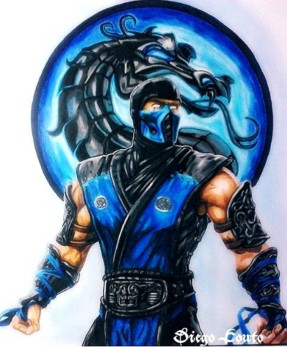 Drawn predator sub zero Zero http://comicbook Best ❤ kombat